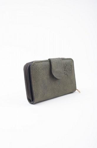 محفظة نقود أخضر حشيشي 37-05
