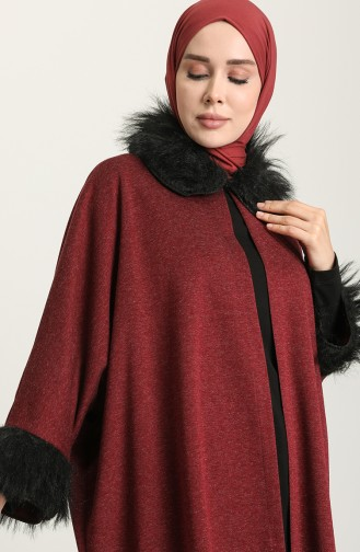 Claret red Poncho 1550-01