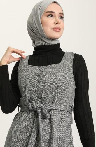 Navy Blue Hijab Dress 7130-06