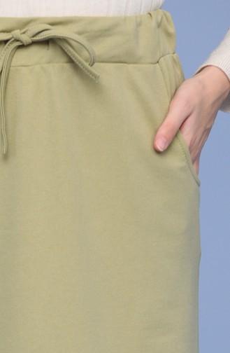 Oil Green Skirt 0152-16
