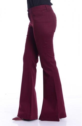 Pantalon Pattes éléphan 2328-05 Bordeaux 2328-05