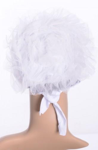 Bonnet en Tulle 04 Creme 04