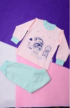 Sefamerve, Pijama Takımı 12476-01 Yeşil Somon