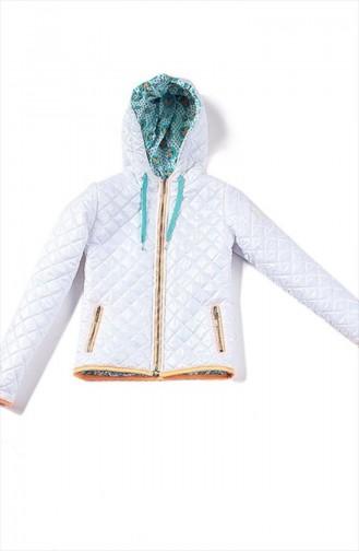 Manteau Pour Enfant Fille Blanc B51K13009 51K13009