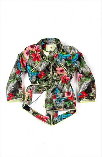 Green Kids Coat 51K13013