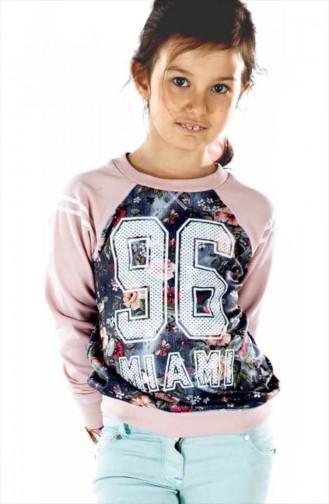Sweat Pour Enfant Fille Rose Pâle B51K8082 51K8082