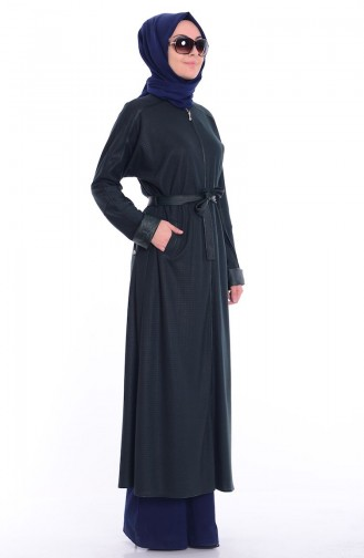 Abaya Islamique 0445-02 Vert 0445-02