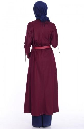 Claret red Abaya 0445-04