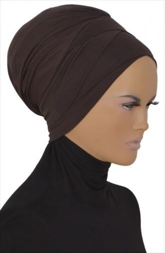 Bonnet aus Gekämmte Baumwoll 0001-06 Braun 0001-06