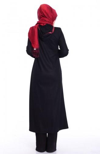 Abaya 0447-01 Noir 0447-01
