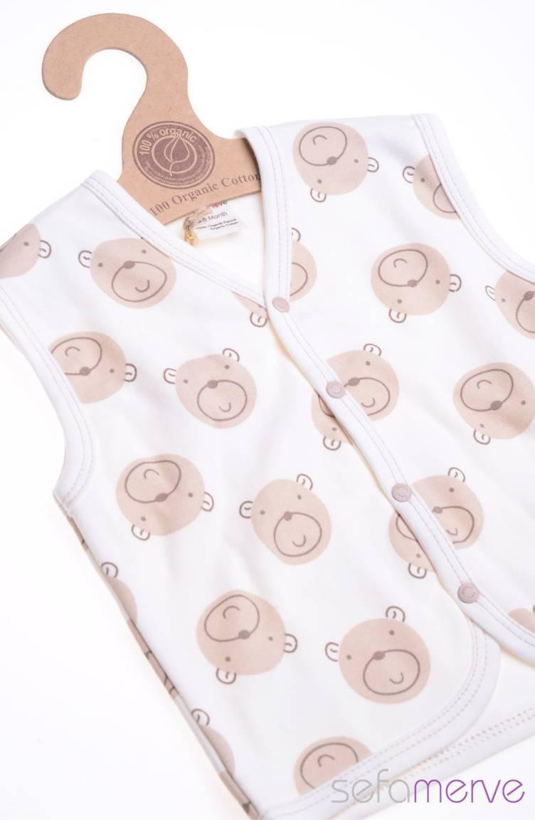 3cd881a5b546 Cream Baby Vest 5052-01