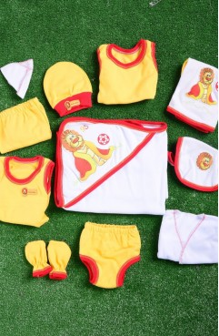 Sefamerve, Red-Yellow Baby Bodysuit Set GCL0706-05