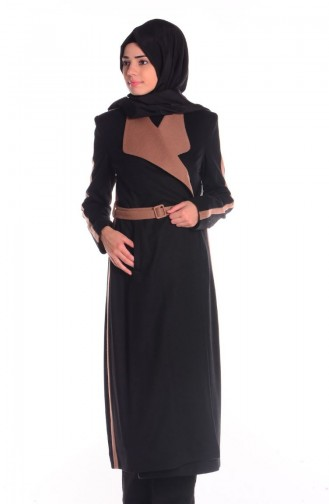 SUKRAN Flet Topcoat  35643-06 Black Camel 35643-06