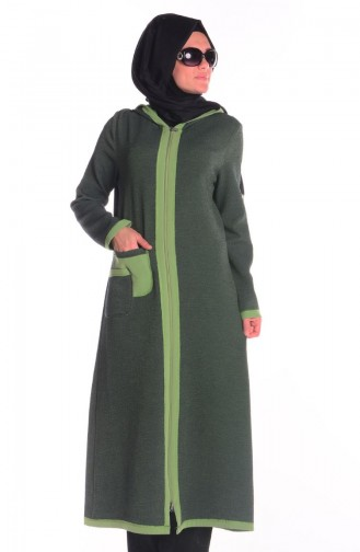 SUKRAN Hooded Topcoat 35655-04 Green 35655-04