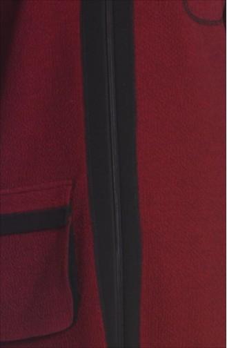 Şükran Cape Pardessus 35656-02 Bordeaux 35656-02