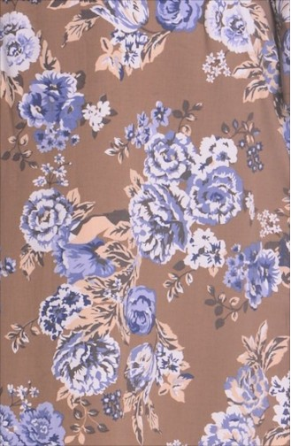 فستان بني مائل للرمادي 2220-03