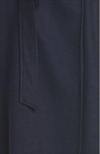 Tesettür Fleece Cape 35661-03 Dunkelblau 35661-03