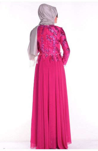 ضفاميرف - فستان مناسبات لون فوشي  5219-01