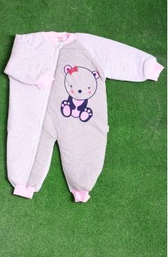 Sefamerve, Pink-Khaki Baby Textile 10537P-02