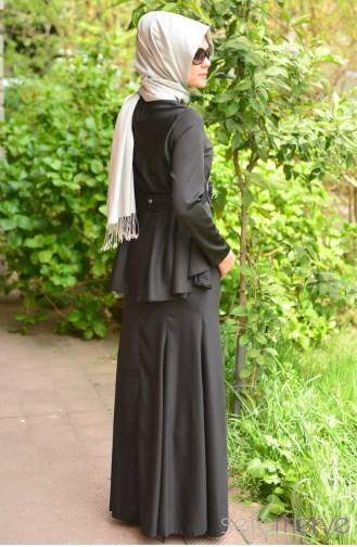 صفامروة فستان بتصميم حزام للخصر 40848 02لون أسود 40848-02