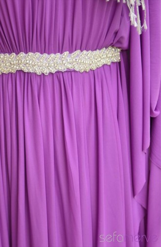 Sefamerve Dress Models 40849-02 Purple 40849-02