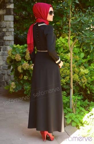 Schwarz Hijap Kleider 4138-01