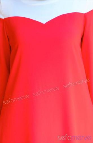 Sefamerve Tesettür Tunik 45017-01 Kırmızı