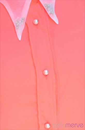 Pearl Buttons Vest 3643-05 Coral 3643-05