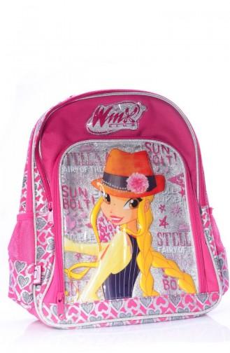 حقيبة مدرسة لون زهري  63139-01