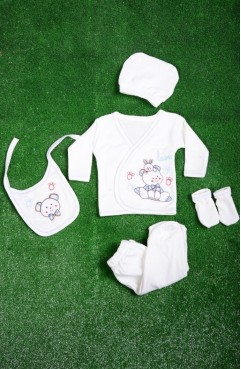Sefamerve, Blue Baby Bodysuit Set 0102A-02