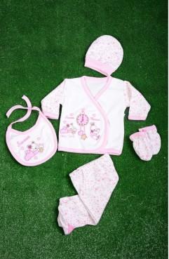 Sefamerve, Pink Baby Bodysuit Set GCL1005-01