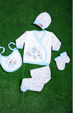 Sefamerve, Blue Baby Bodysuit Set GCL1005-04