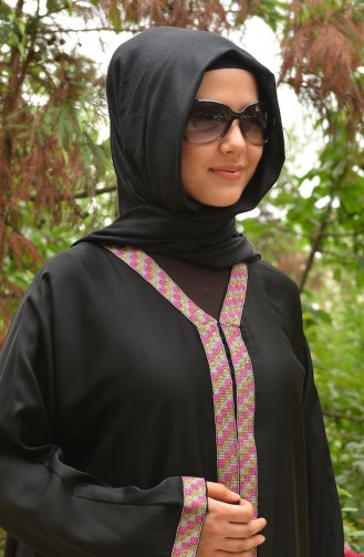Pink Abaya 20031-01