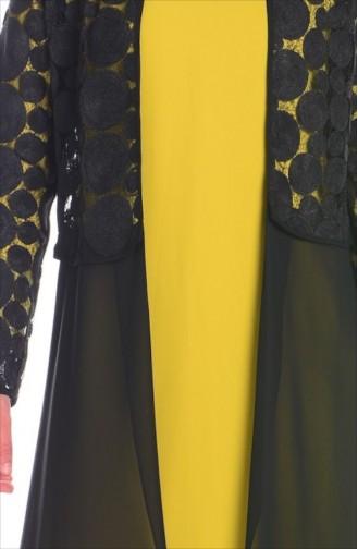 SUKRAN Jacket Tunic Suit 4166-02 Green Black 4166-02