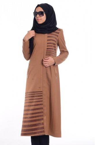Şükran Hijab Cape aus Filz 35646-02 Kamel 35646-02