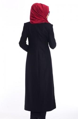 Şükran Hijab Cape aus Filz 35646-05 Schwarz 35646-05