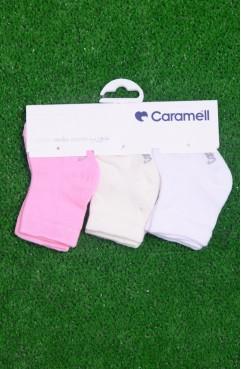 Sefamerve, Üçlü Kız Bebe Çorabı 1989-02 Pembe Beyaz