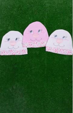 Sefamerve, Üçlü Paket Bebek Şapka 3001-02 Pembe