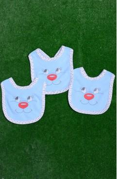 Sefamerve, Üçlü Paket Bebek Önlük 3002-01 Mavi