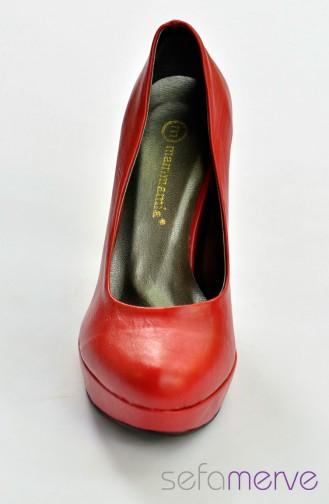 ماما ميا حذاء بتصميم كعب لون احمر 11 12YA-3600-011