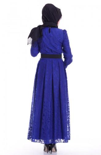 Saks-Blau Hijap Kleider 1741-06