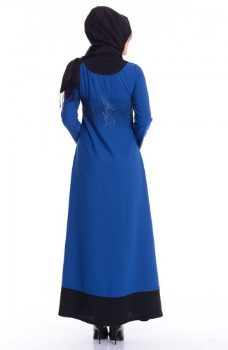 Oil Blue Abaya 0119-03