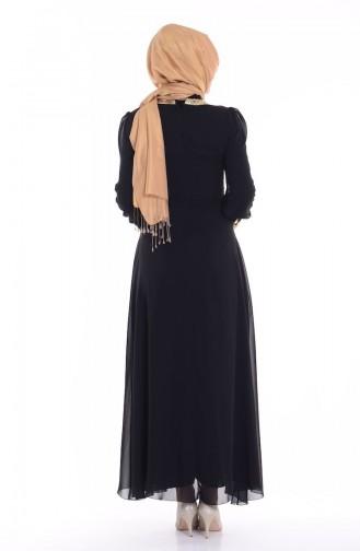 Black İslamitische Avondjurk 2398-04