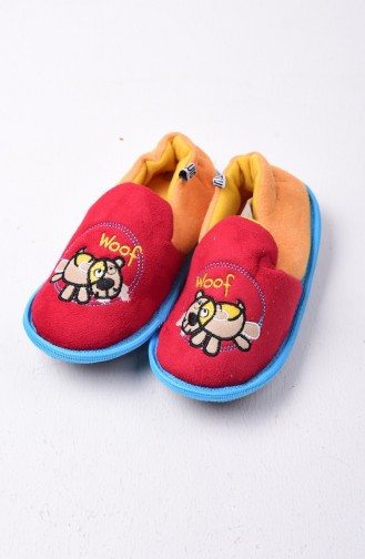 Red Kids Shoes 551-02