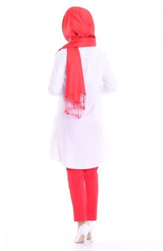 Tunik Gömlek 0694-04 Beyaz 0694-04