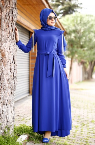 SUKRAN Sleeve Detail Crepe Dress 4179-01 Saks 4179-01