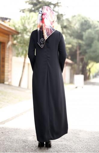 Robe Crêpe avec Collier 4181-02 Noir 4181-02