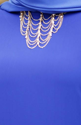 Saxon blue İslamitische Avondjurk 4181-04