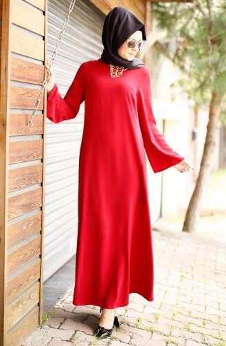 Claret red İslamitische Avondjurk 4181-05