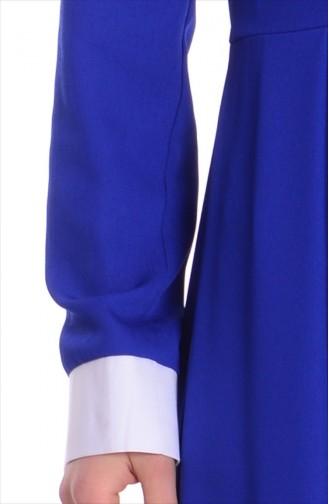 Robe Col Chemise 4186-02 Bleu Roi 4186-02